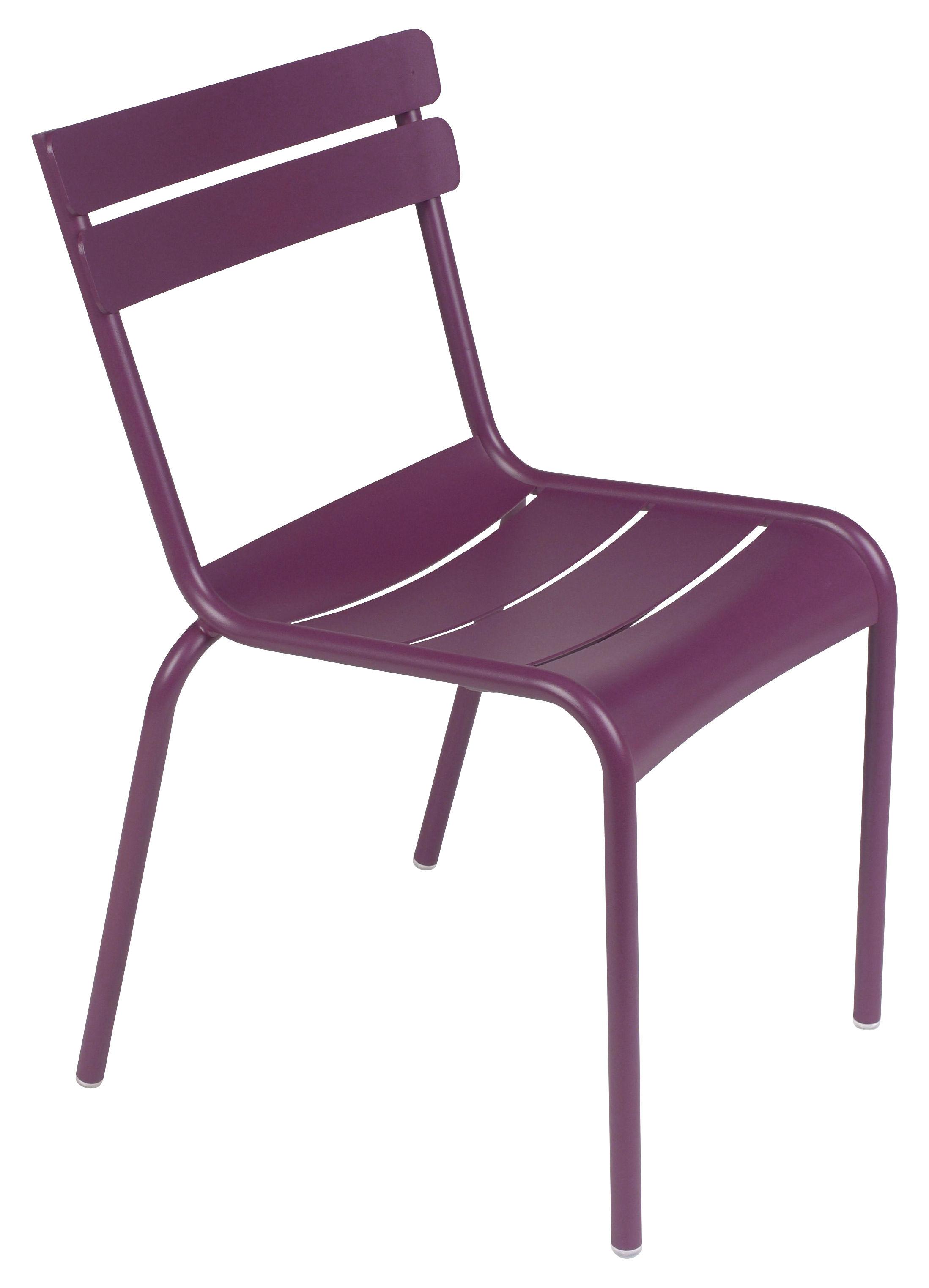 chaise empilable luxembourg aluminium aubergine fermob. Black Bedroom Furniture Sets. Home Design Ideas