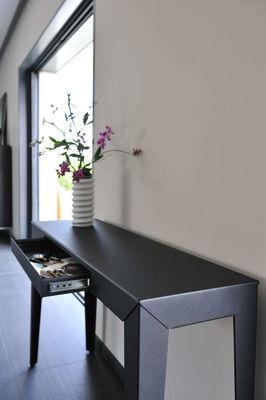 zef mit schublade 120 x 35 cm mati re grise konsole. Black Bedroom Furniture Sets. Home Design Ideas
