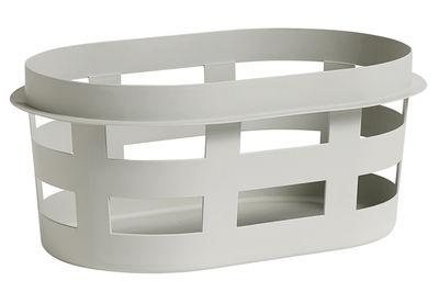 Panier à linge Small / Plastique - 57 x 37 x H 24 cm - Hay gris clair en matière plastique