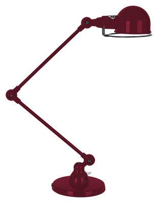 Foto Lampada da tavolo Signal - 2 bracci articolati - H max 60 cm di Jieldé - Borgogna brillante - Metallo