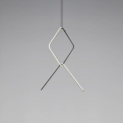 Arrangements 2 LED Pendelleuchte / 2 Elemente - H 90 cm x L 100 cm - Flos - Weiß,Schwarz