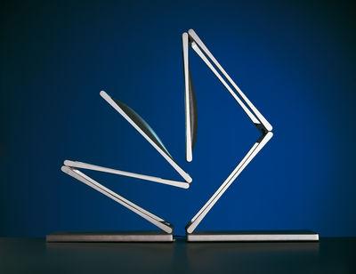 Chain Table Lamp Chromed Arm Light Grey Head By Nemo