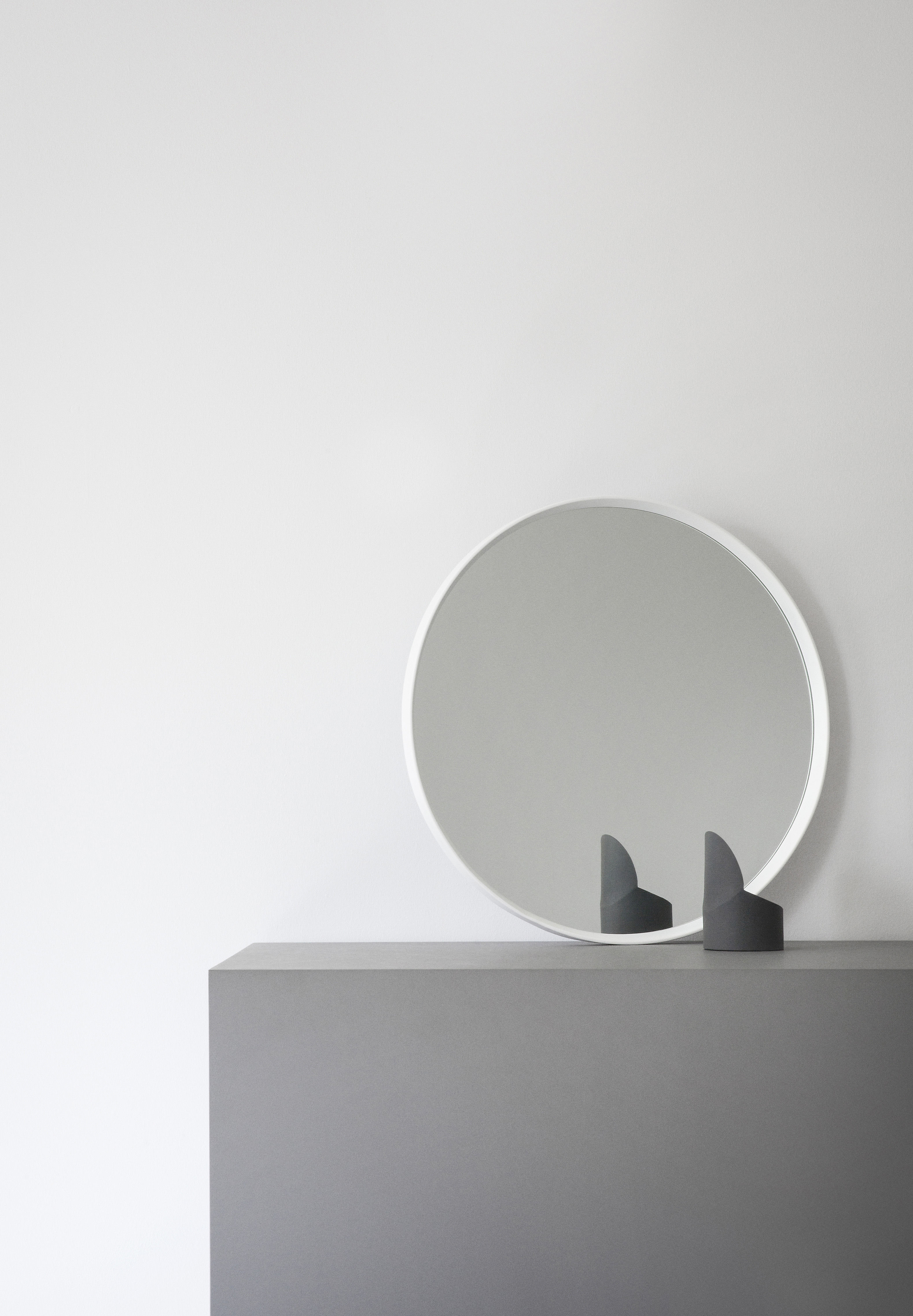 Norm wall mirror 60 cm white by menu for Mirror 45 x 60