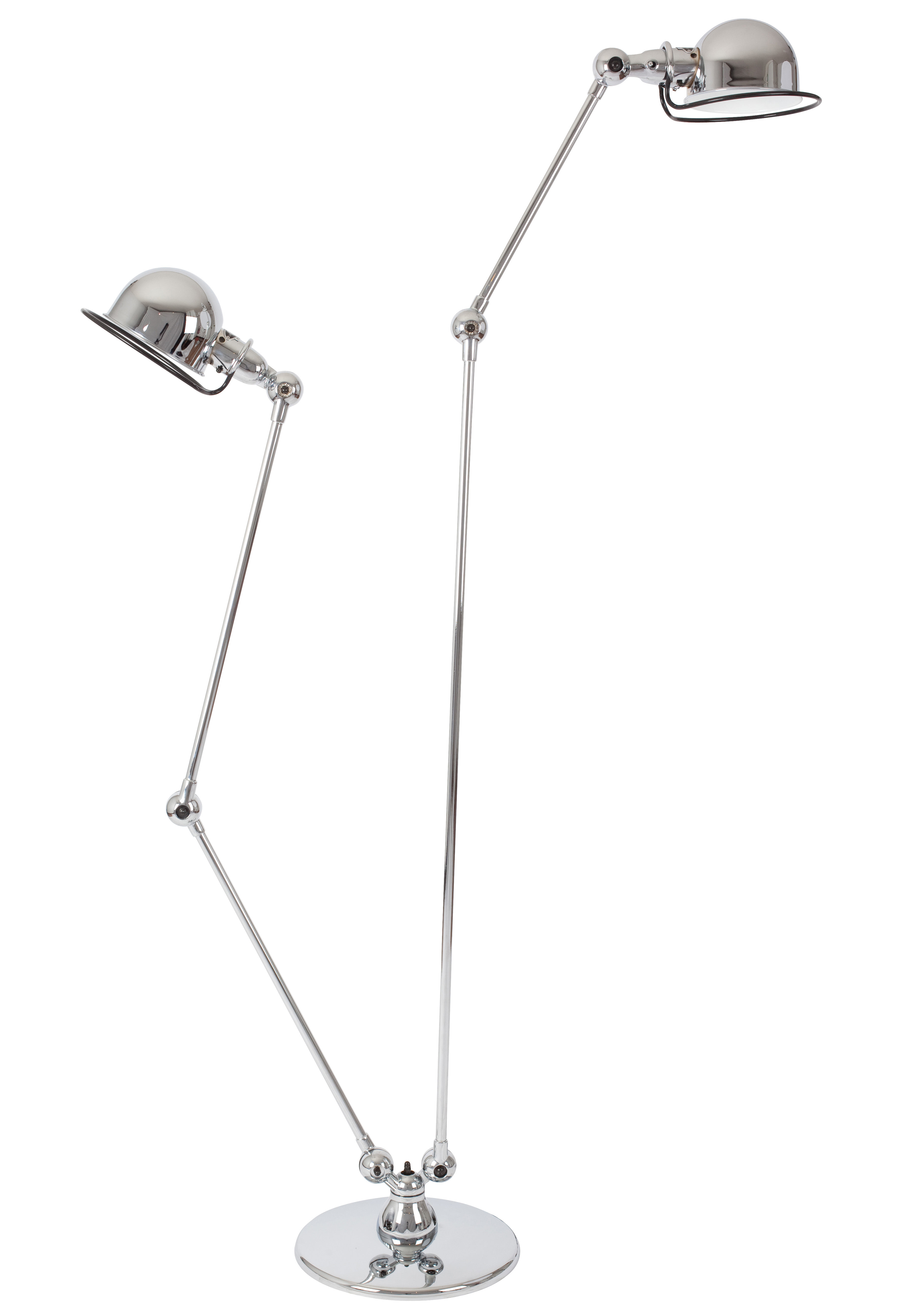 Loft small reading lamp double 2 arms h max 160 cm for Double floor lamp reading
