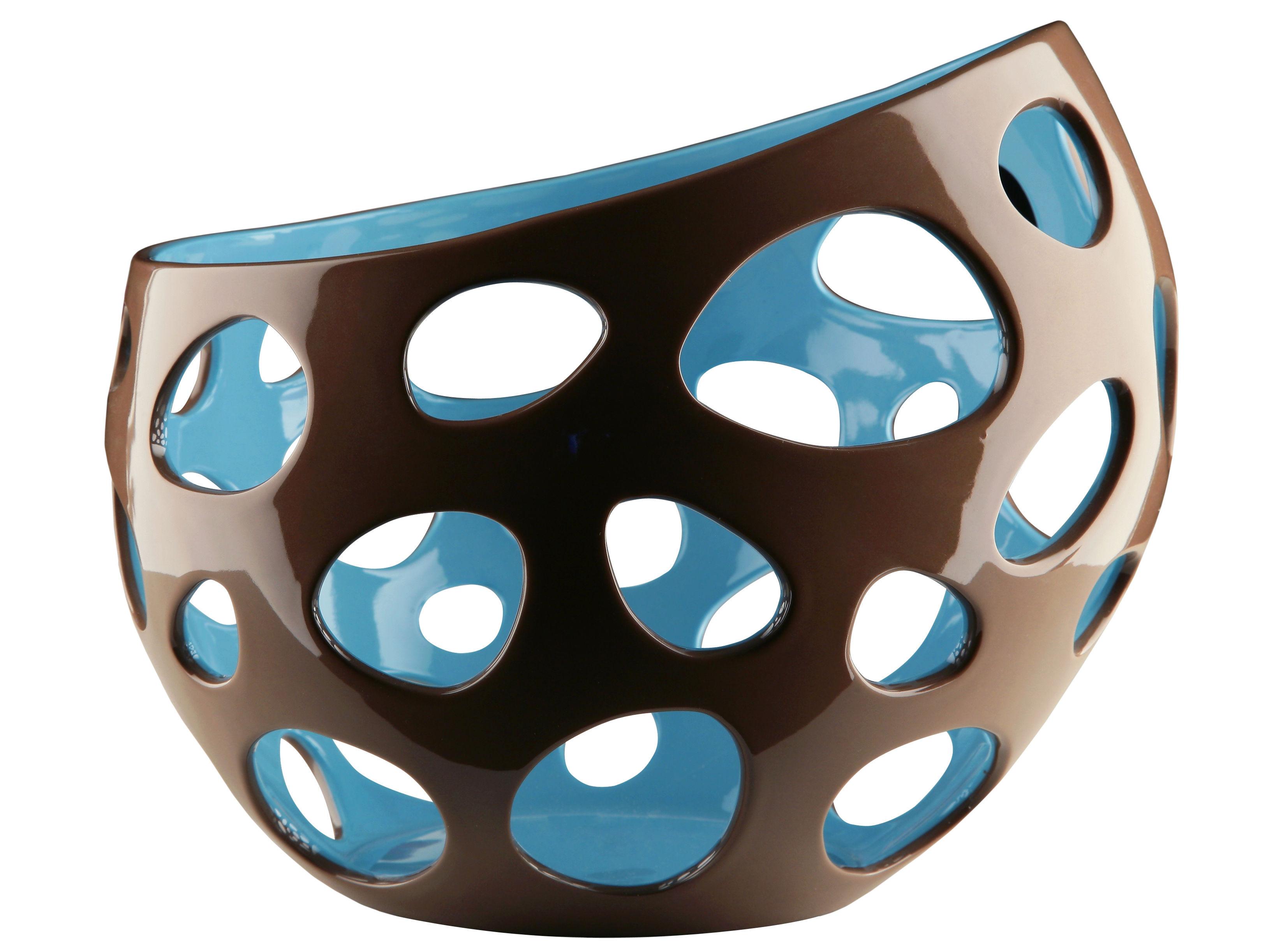 Baby Basket - Citrus basket Brown - Blue inside by Alessi