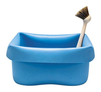 Bassine washing up bowl en caoutchouc avec brosse bleu for Bassine caoutchouc