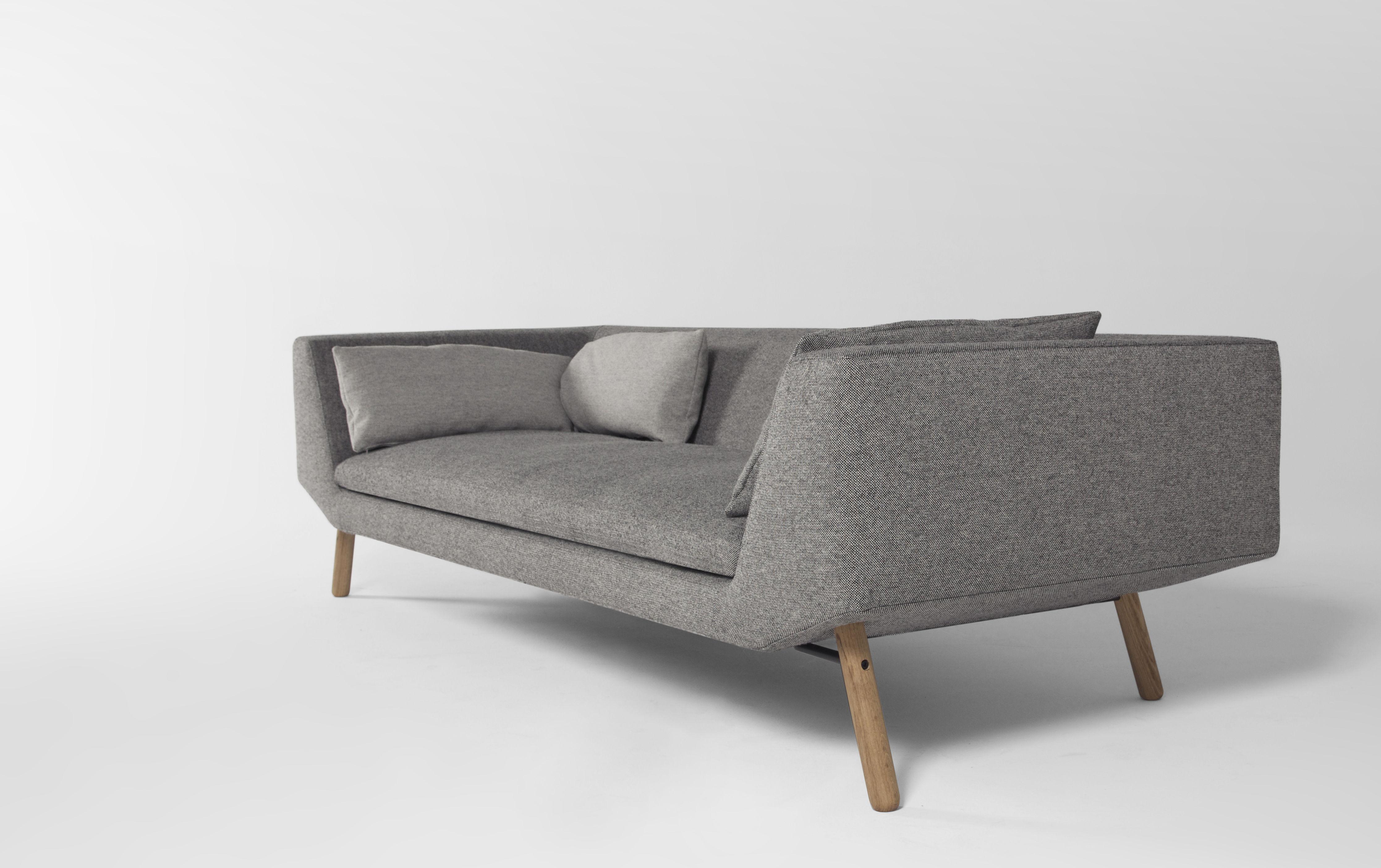 canap droit combine 3 places l 240 cm gris pi tement ch ne prostoria ltd. Black Bedroom Furniture Sets. Home Design Ideas