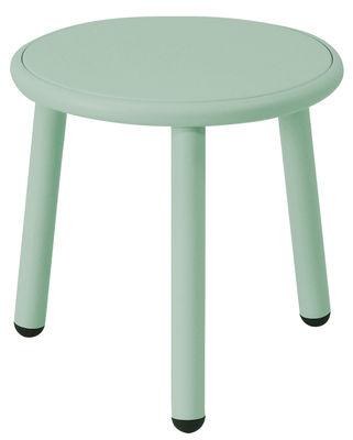 Tavolino Yard - / Ø 40 cm di Emu - Verde - Metallo