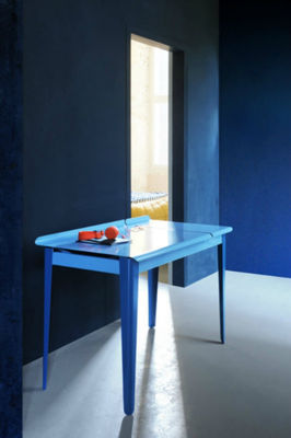 bureau clapet bleu uni tolix. Black Bedroom Furniture Sets. Home Design Ideas