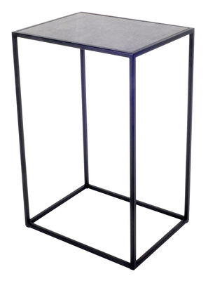 Furniture - Coffee Tables - Elements I End table - 37 x 29 x H 57 cm by XL Boom - Grey ciment / Black - Epoxy lacquered steel, Fibre-cement