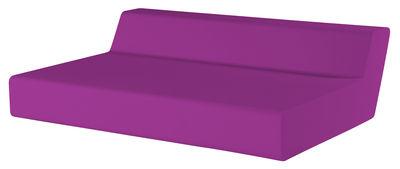 Foto Divano destro Matrass Seat 150 - h 20 cm - 2 posti di Quinze & Milan - Viola - Materiale plastico
