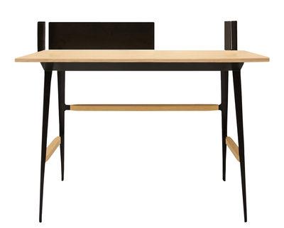 Bureau bois noir bureau bureau ikea noir et bois u helenebeauty