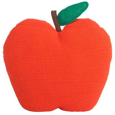 Coussin Apple en crochet Anne Claire Petit mandarine en tissu
