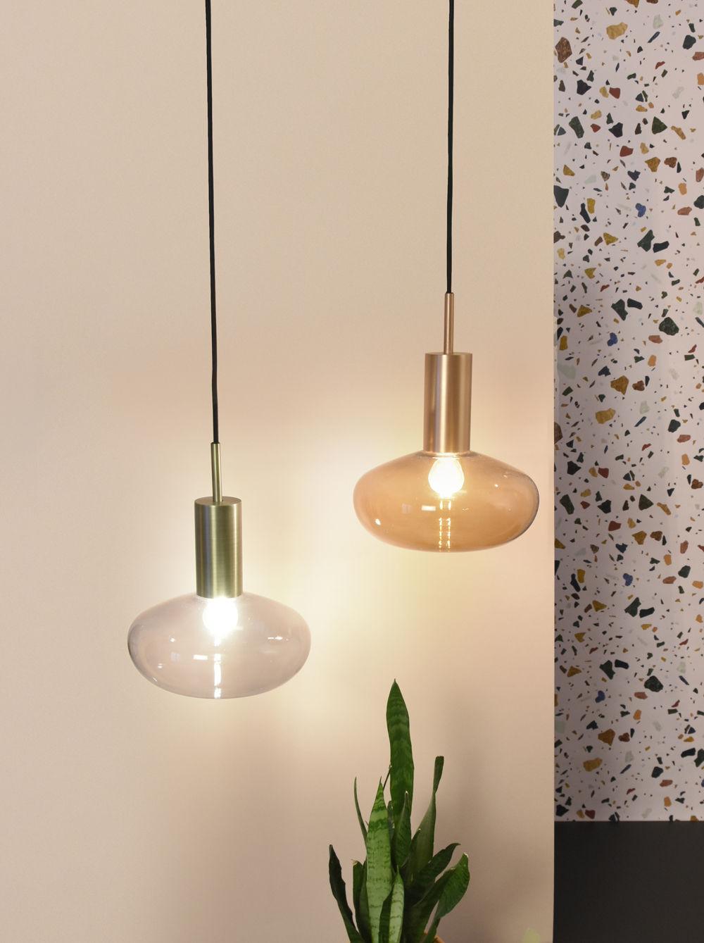 suspension gambi verre souffl structure laiton verre. Black Bedroom Furniture Sets. Home Design Ideas