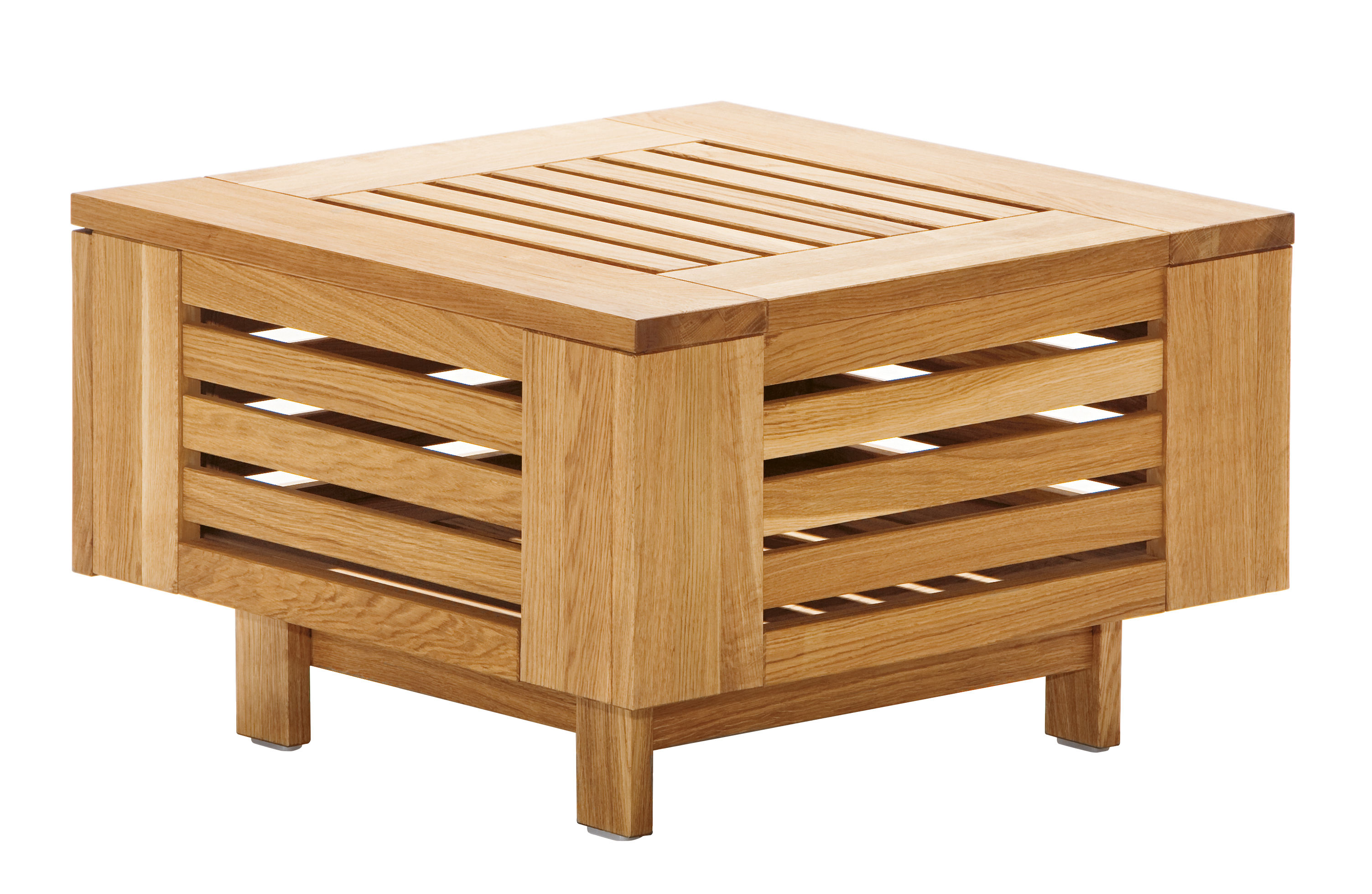 Table basse skan r rangement 71 5 x 71 5 cm teck for Table 6 2 ar 71 32