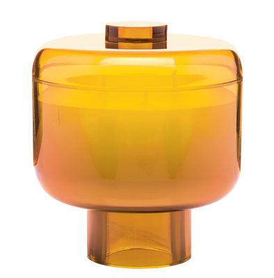 Bougie parfumée Nikko / Kartell Fragrances - H 14 cm - Kartell orange en matière plastique