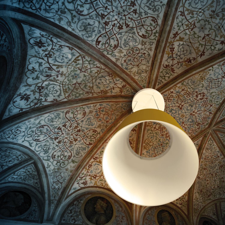 suspension aurea led noir int blanc fontana arte. Black Bedroom Furniture Sets. Home Design Ideas