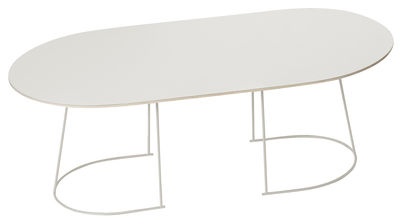 Table basse Airy / Large - 120 x 65 cm - Muuto blanc cassé en métal