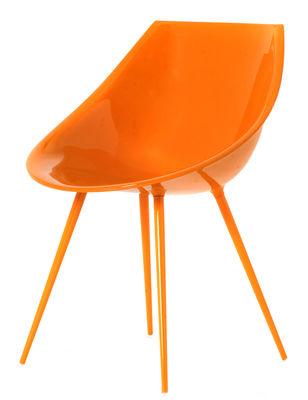 Foto Poltrona Lago - / Versione laccata di Driade - Arancione - Materiale plastico