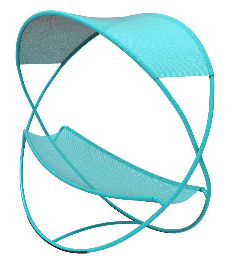 hamac osmose lit suspendu avec toile d 39 ombrage turquoise. Black Bedroom Furniture Sets. Home Design Ideas
