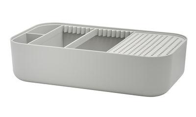 Cuisine - Vaisselle et nettoyage - Egouttoir Dishy / Bassine - 45 x 26 cm - Stelton - Gris clair - Matière plastique