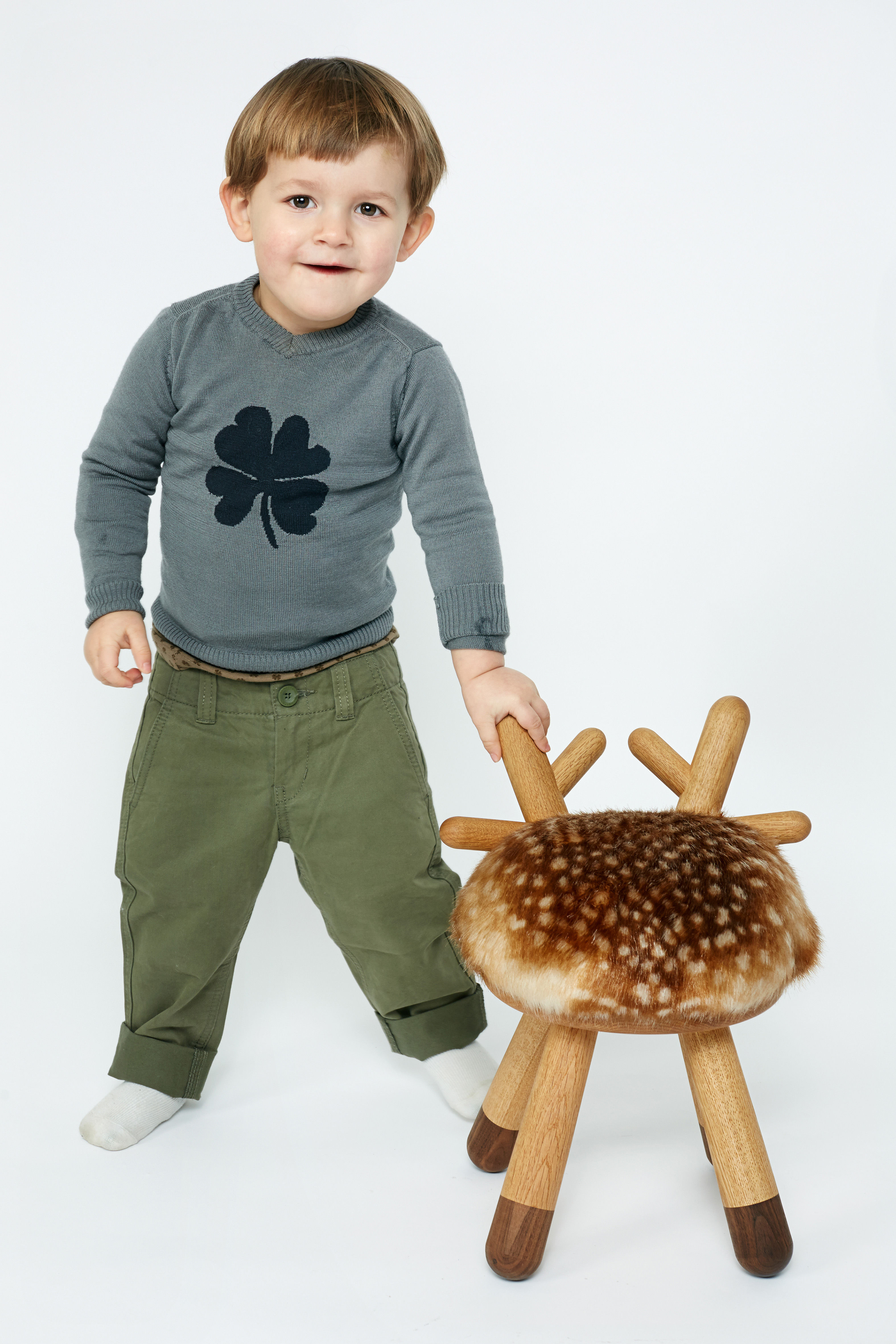 Bambi Childrenu0027s Chair   H 40 Cm Natural Wood / Beige U0026 Brown By Elements  Optimal