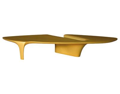 Tavolino Waterfall - 216 x 60 cm di Driade - Oro - Materiale plastico