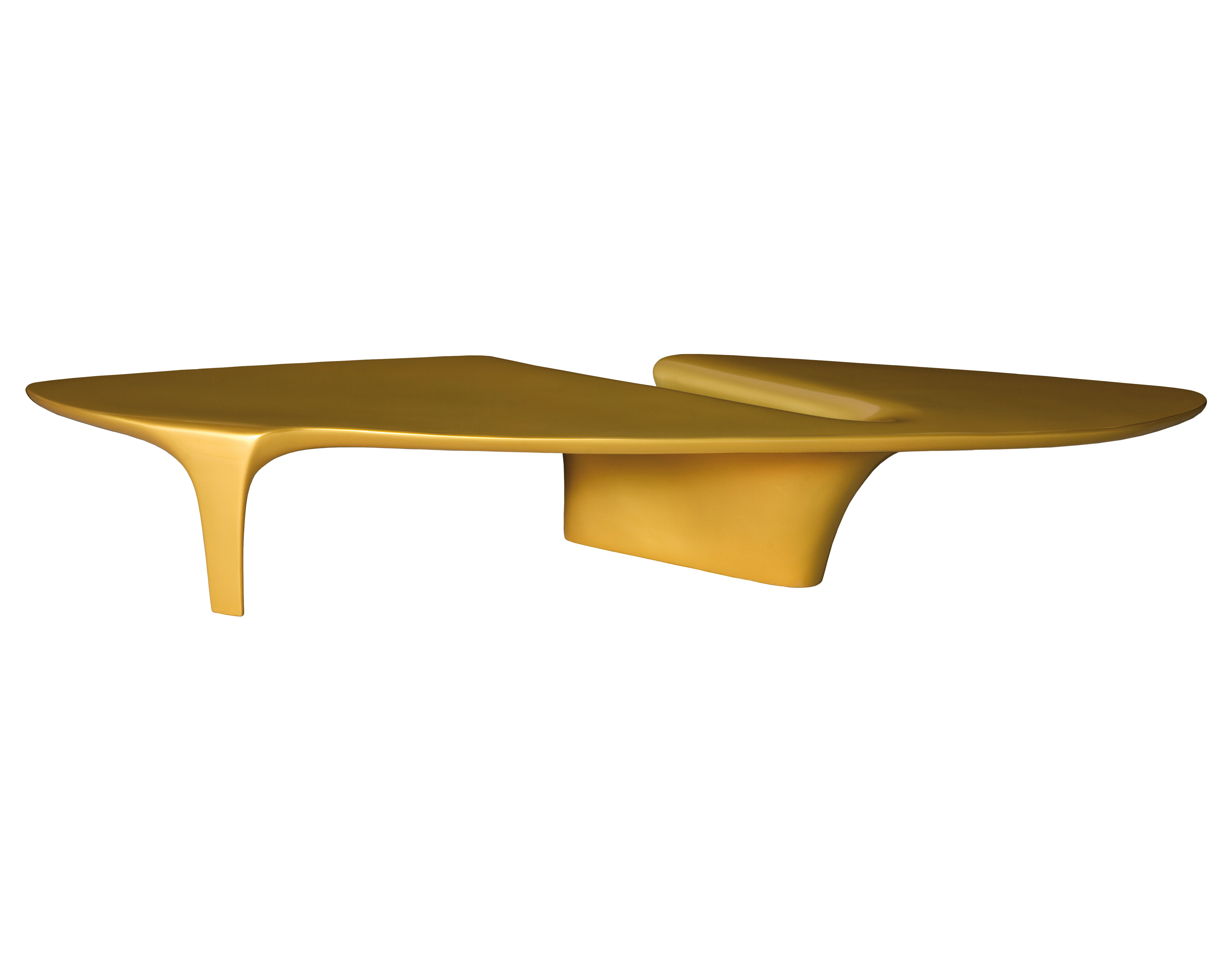 Waterfall coffee table 216 x 60 cm gold by driade for Coffee table 60cm x 60cm