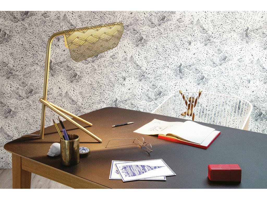 papier peint dots 1 rouleau larg 52 cm motifs blancs fond noir petite friture. Black Bedroom Furniture Sets. Home Design Ideas