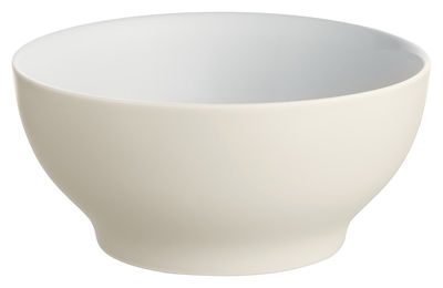 Tableware - Bowls - Tonale Bowl - Small bowl by Alessi - White yellow - Stoneware ceramic