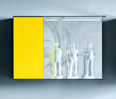 Mobilier - Etagères & bibliothèques - Etagère Float Wall 1 L 90 x H 62 - Glas Italia - Jaune - Verre