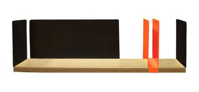 Foto Mensola Portable Atelier / Moleskine - L 60 cm - Con portadocumenti - Driade - Nero,Legno naturale,Arancione fluorescente - Metallo Scaffale