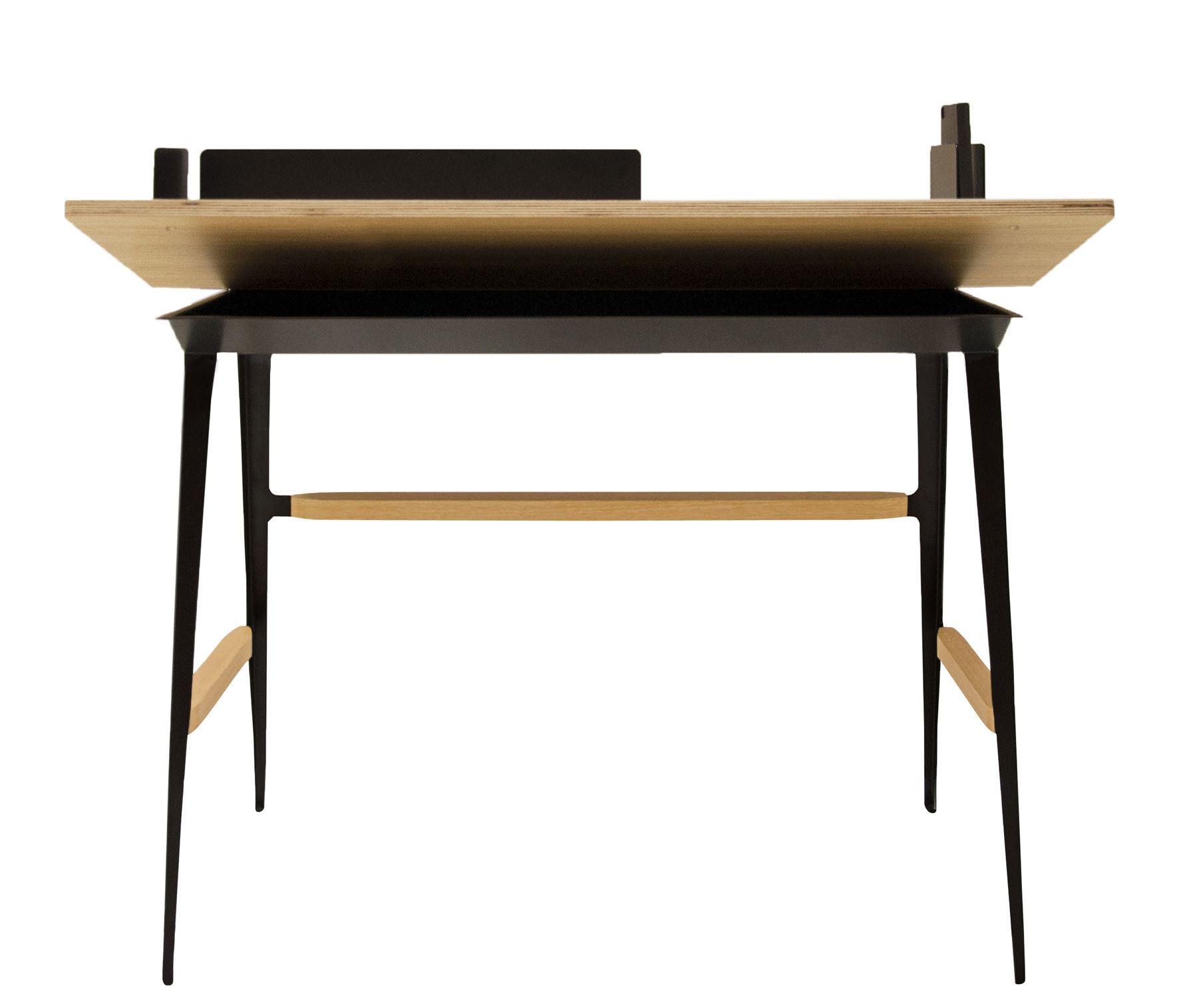 bureau portable atelier moleskine bureau bois noir driade made in design. Black Bedroom Furniture Sets. Home Design Ideas
