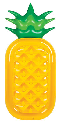 Materasso gonfiabile / Ananas gigante - 197 x 89 cm - Sunnylife - Giallo,Verde - Materiale plastico