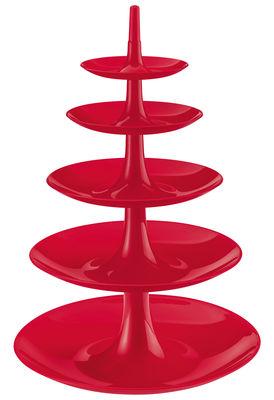 Foto Alzata Babell XXL di Koziol - Rosso lampone opaco - Materiale plastico
