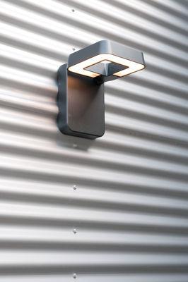 Applique square led gris anthracite verre clair roger for Luminaire exterieur gris anthracite