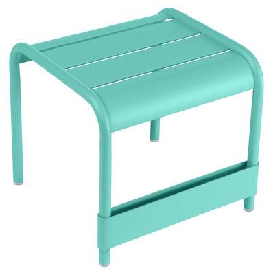 Tavolino d'appoggio Luxembourg - / L 42 cm di Fermob - Blu laguna - Metallo