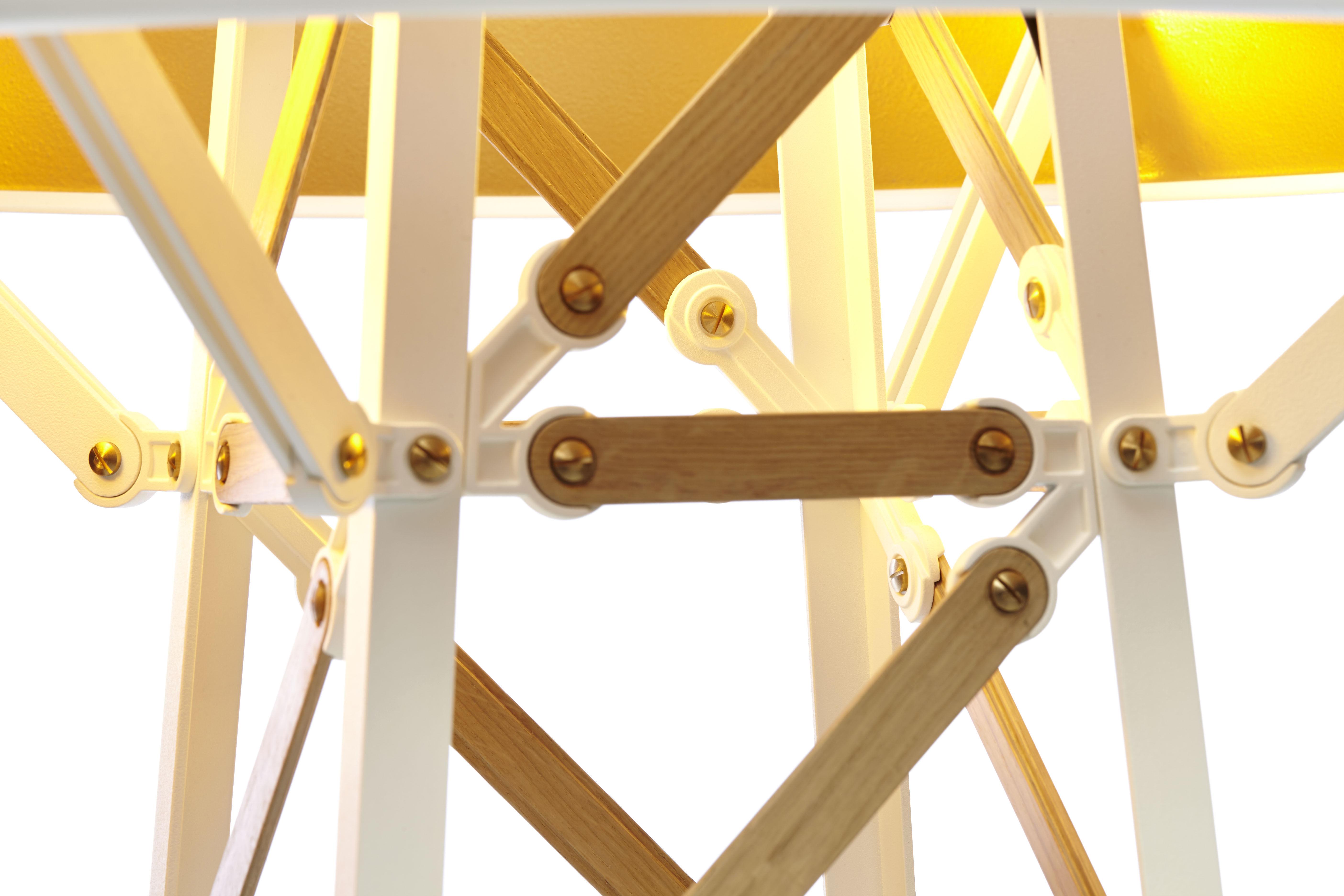 Lampadaire construction lamp small h 87 cm bois naturel for Construction bois 87