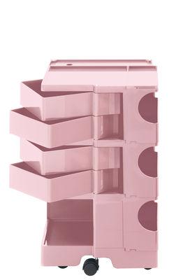 Desserte Boby / H 73 cm - 4 tiroirs - B-LINE rose pâle en matière plastique