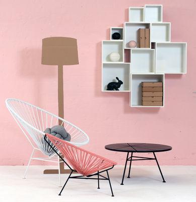 fauteuil bas acapulco blanc pi tement blanc ok design pour sentou edition. Black Bedroom Furniture Sets. Home Design Ideas