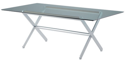 tavolo da giardino Oskar di Sifas - Trasparente - Metallo