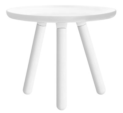 Tavolino Tablo Small - Small Ø 50 cm di Normann Copenhagen - Bianco - Legno