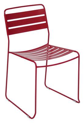 Mobilier - Chaises, fauteuils de salle à manger - Chaise empilable Surprising / Métal - Fermob - Coquelicot - Acier