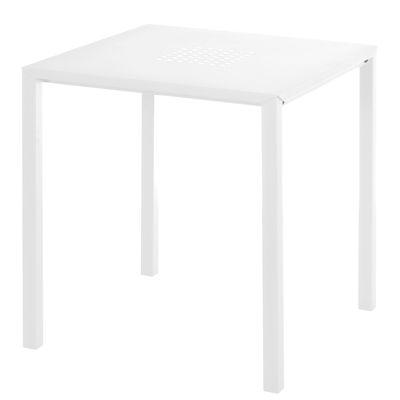 Jolly Tisch / 70 x 70 cm - Stahl - Emu - Weiß