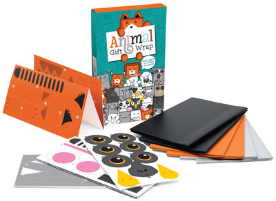 Déco - Pour les enfants - Papier cadeau Animal Gift / Set papier + Stickers - Luckies - Multicolore - Papier