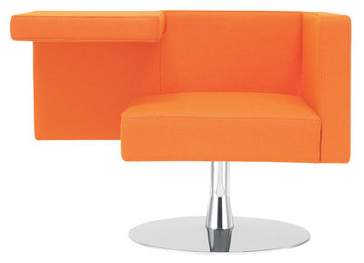 Poltrona imbottita Solitaire di Offecct - Arancione - Metallo