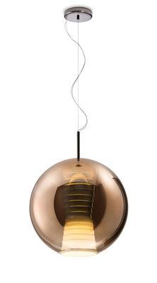 Luminaire - Suspensions - Suspension Beluga Royal LED / Verre - Ø 40 cm - Fabbian - Cuivre - Verre métalisé
