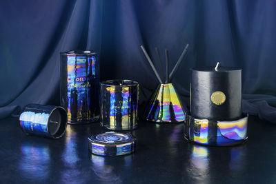 oil pillar set aus kerze kerzenst nder aus glas tom dixon parfumierte kerze. Black Bedroom Furniture Sets. Home Design Ideas