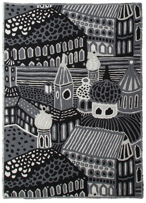 Plaid Kumiseva / 130 x 180 cm - Marimekko blanc,noir en tissu