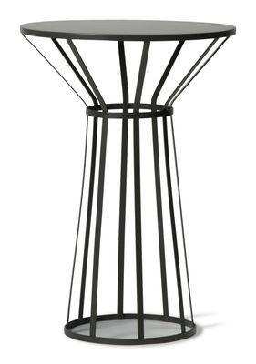 Foto Tavolino rotondo Hollo - H 73 cm di Petite Friture - Antracite - Metallo